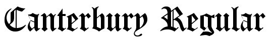 canterbury-font